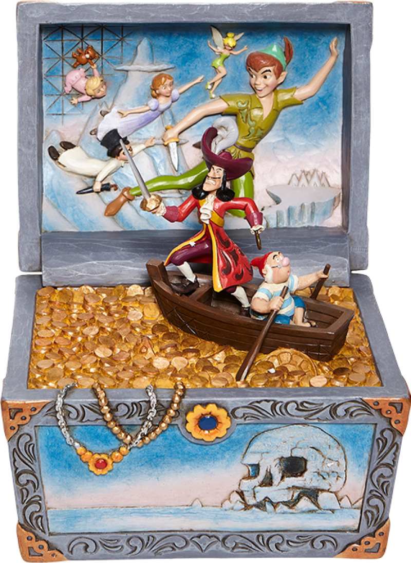 Disney Peter Pan Treasure Chest Scene Collectible Statue