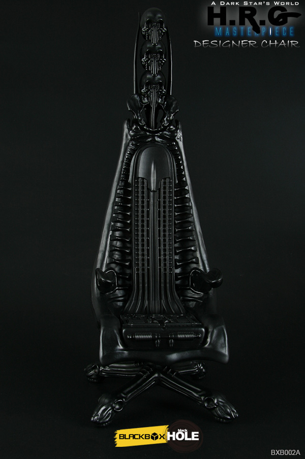 H.R. Giger 1/6 Scale Designer Chair Replica (Black Version) - Click Image to Close