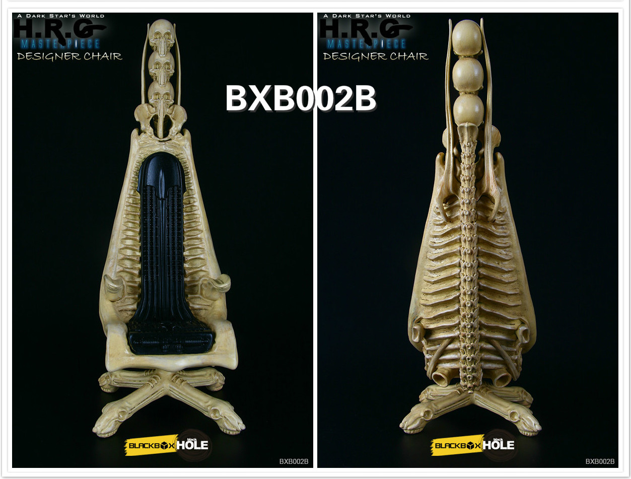 H.R. Giger 1/6 Scale Designer Chair Replica (Skeleton Version) - Click Image to Close
