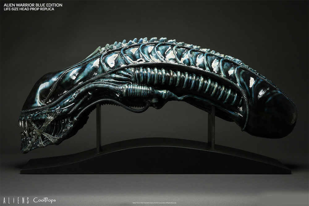 Aliens Alien Warrior Blue Edition Life-Size Head Prop Replica