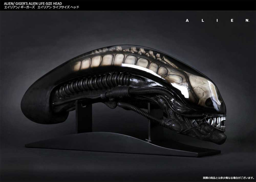 Alien Life Size Head H.R. Giger Prop Replica