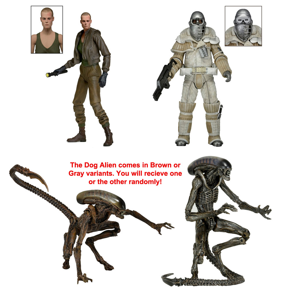 "Aliens 7"" Figures Series 8 Action Figure Set of 3 (Alien 3)"