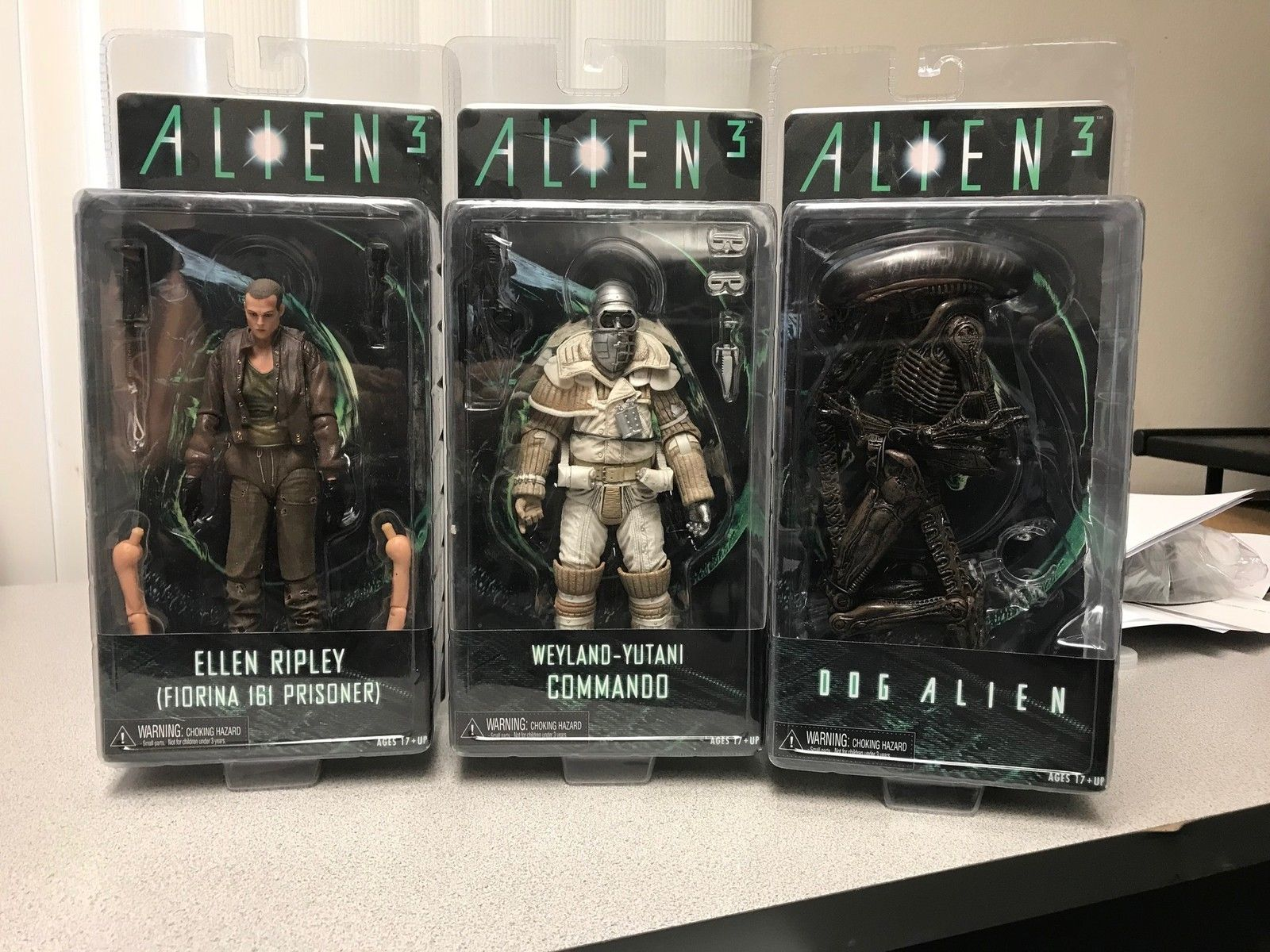 "Aliens 7"" Figures Series 8 Action Figure Set of 3 (Alien 3) OOP"