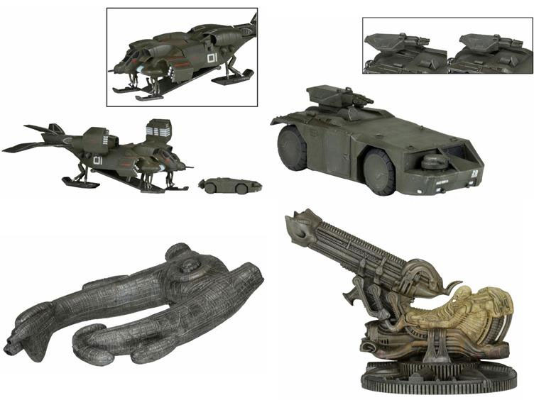 Alien Aliens Cinemachines Set of 4 Die-Cast Vehicles