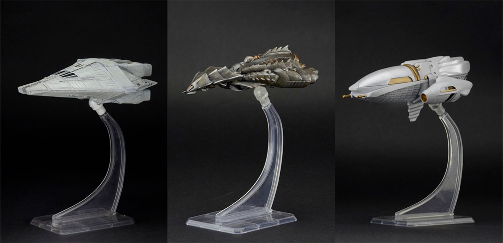 Alien / Predator Cinemachines Series 2 Set of 3 Diecast Spaceship Replicas