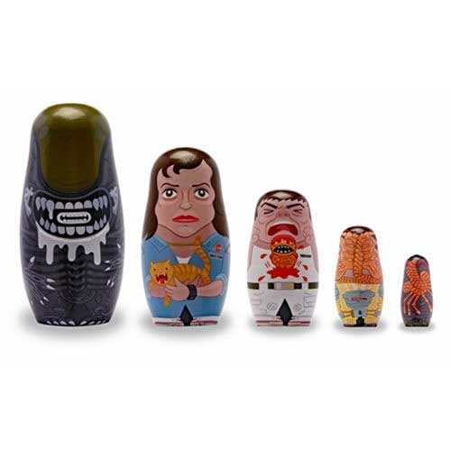 Alien Wood Nesting Doll Set