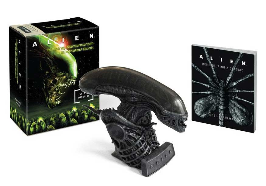 Alien Hissing Xenomorph Bust With Sound + Illustrated Book
