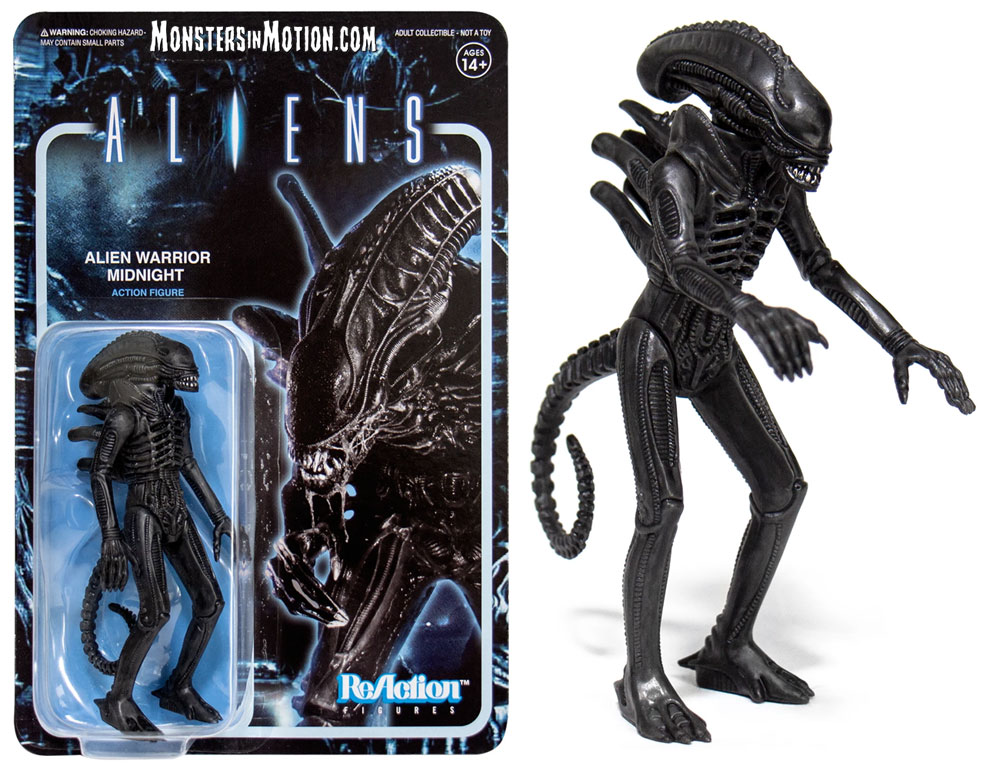 "Aliens Alien Warrior A (Midnight Black) 3.75"" ReAction Figure"