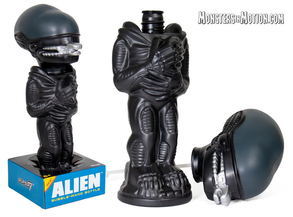 Alien Xenomorph Super Soapies Bubble Wand Bottle