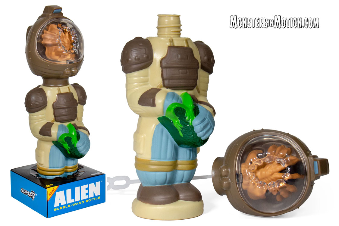 Alien Kane with Facehugger Super Soapies Bubble Wand Bottle