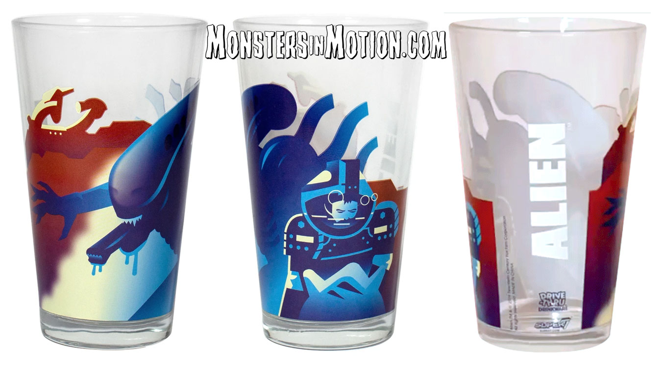 Alien Xenomorph Drinkware Pint Glass