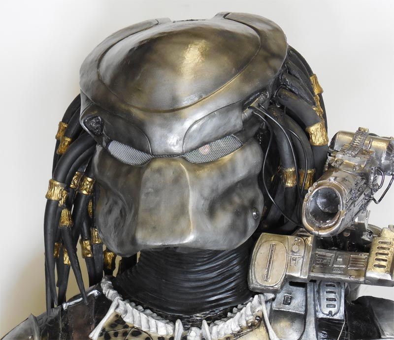 Predator Head with Helmet Life Size Replica Mask