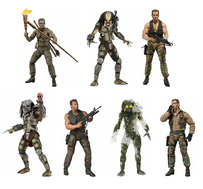 "Predator 30th Anniversary Collection 7"" Scale Action Figure Set of 7 Figures"