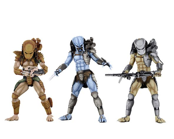 "Alien vs Predator Arcade Appearance 7"" Scale Predator Action Figures Set of 3"