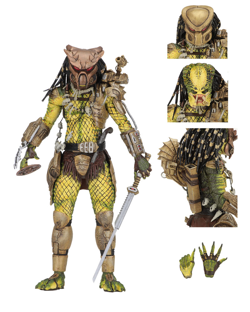 "Predator 2 Ultimate Elder The Golden Angel 7"" Scale Action Figure"
