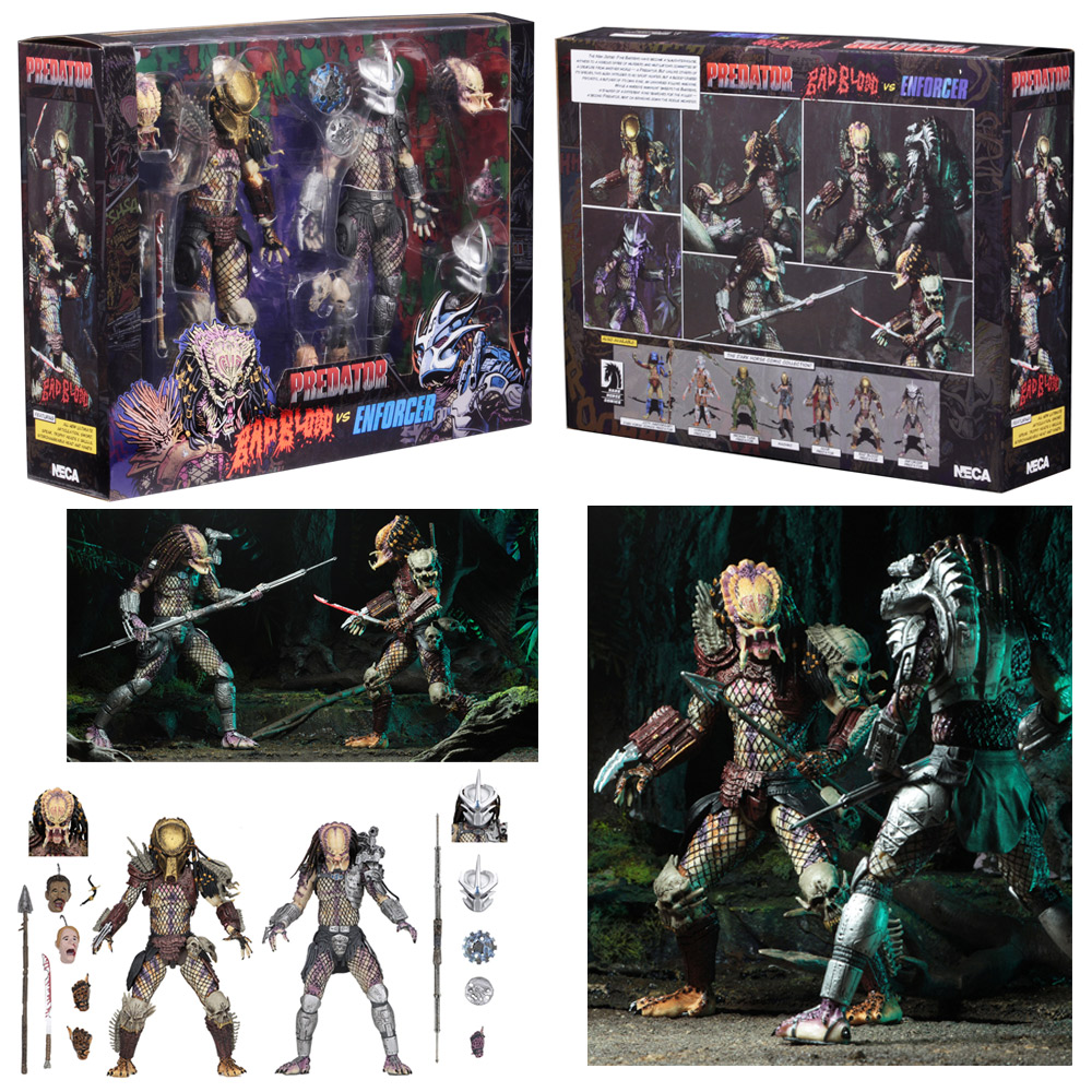 "Predator Ultimate Bad Blood vs The Enforcer 7"" Scale Figure 2-Pack"