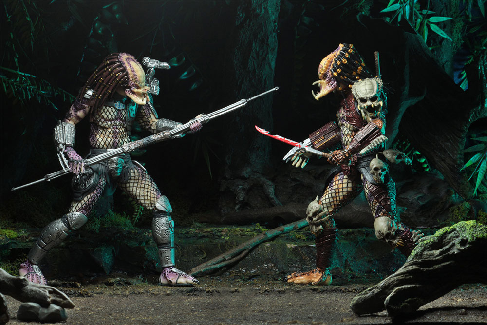 "Predator Ultimate Bad Blood vs The Enforcer 7"" Scale Figure 2-Pack - Click Image to Close"