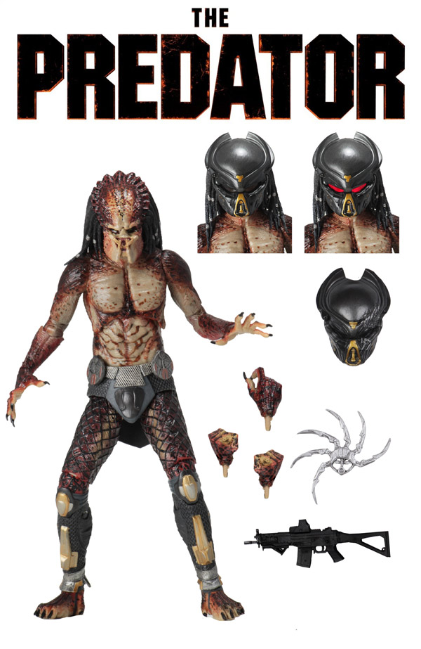 "Predator 2018 Ultimate Fugitive Lab Escape 7"" Scale Action Figure by Neca"