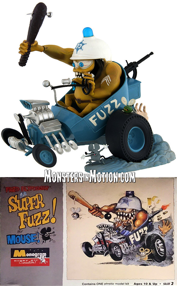 Fred Flyfogger as Super-Fuzz by Stanley Mouse Model Kit
