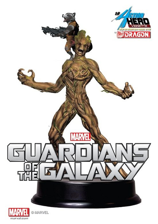 Guardians of the Galaxy Groot with Rocket 1/9 Scale Statue