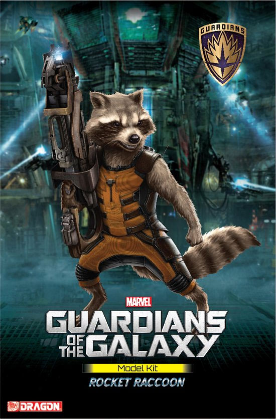 Guardians of the Galaxy Rocket Raccoon 1/9 Scale Model Kit