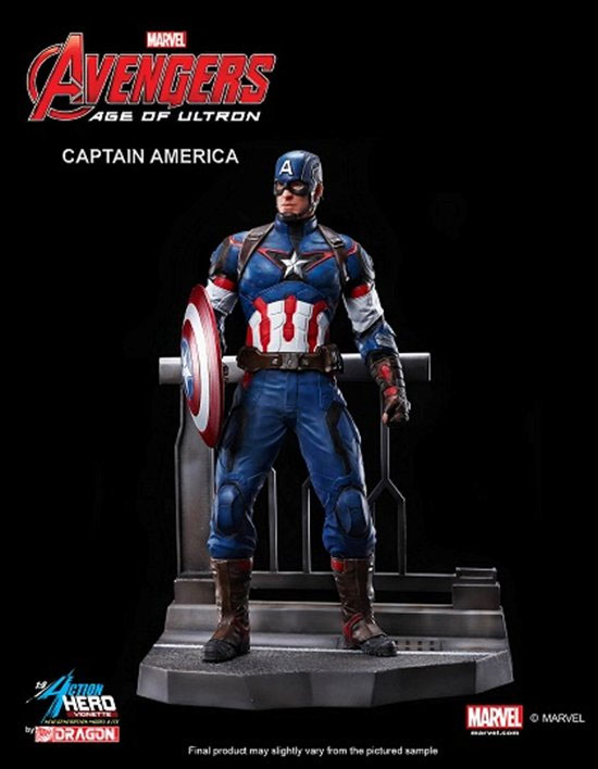 Avengers Age Of Ultron Captain America Action Hero Vignette - Click Image to Close