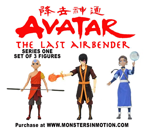 Avatar: The Last Airbender Series 1 Action Figure Set of 3