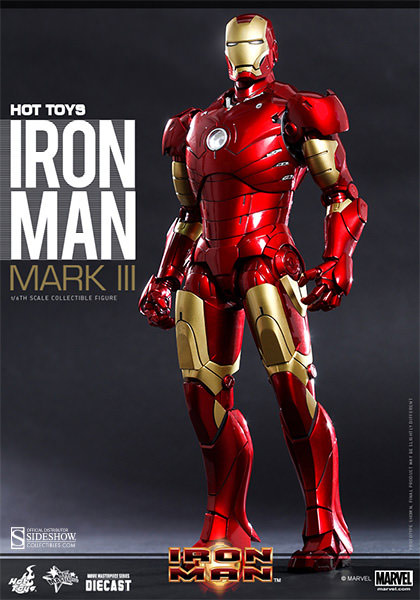 Iron Man Mark III DIECAST Movie Masterpiece 1/6 Scale Figure by Hot Toys