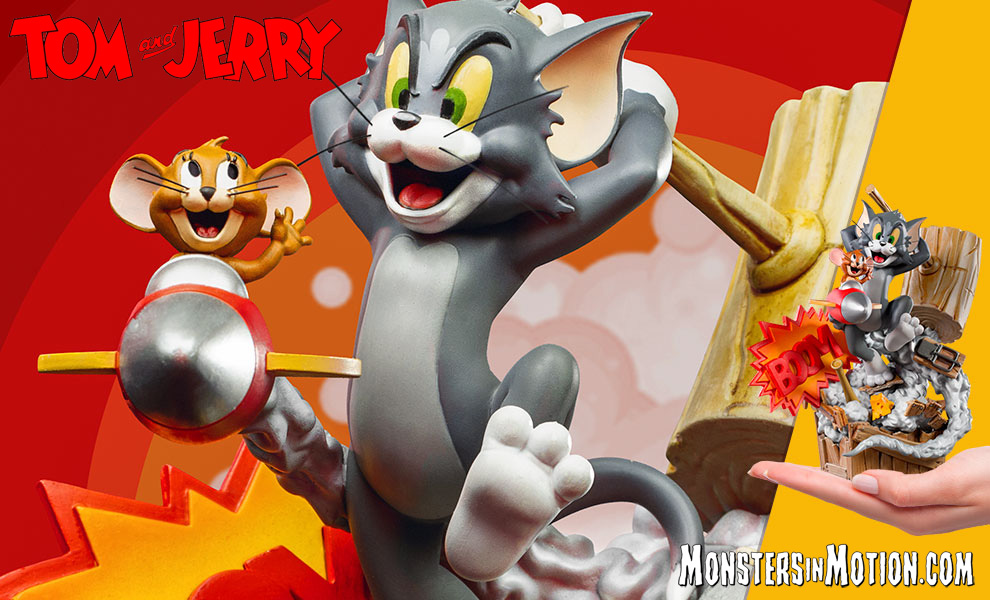 Tom & Jerry Boom Statue by Iron Studios