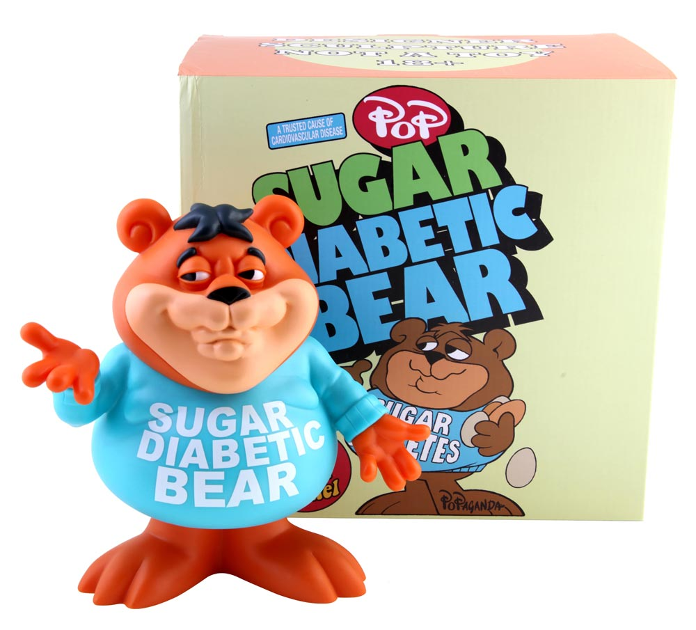 Sugar Crisp Sugar Diabetic Bear Cereal Killer Vinyl Figure by Ron English