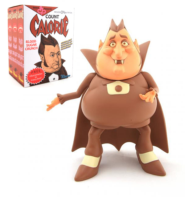 Count Chocula Count Calorie Cereal Killer Vinyl Figure by Ron English