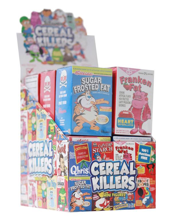 "Cereal Killers 3"" Mini Figures Complete Set Of 12 Ron English"