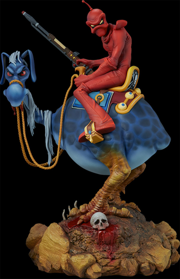 Wizards 1977 Peace Red Rider Statue Ralph Bakshi and William Stout