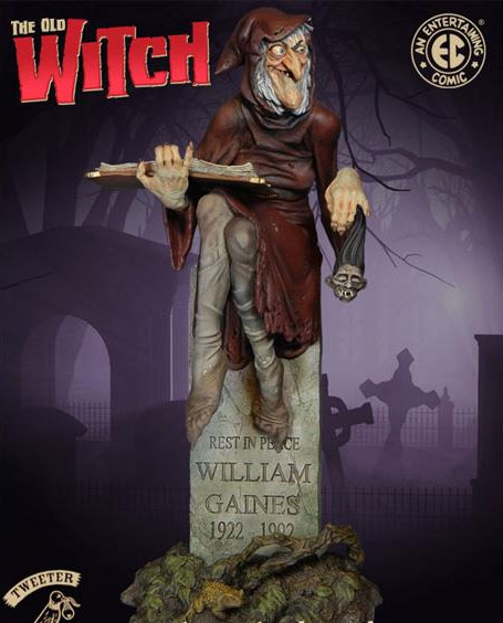"EC Comics Old Witch LIMITED EDITION 13"" Statue"