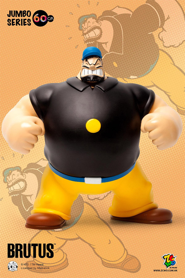 Popeye Brutus 90th Anniversary 24 Inch PVC Figure by ZCWorld