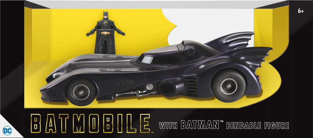 Batman 1989 1/24 Scale Batmobile with Batman 3-Inch Bendable Figure