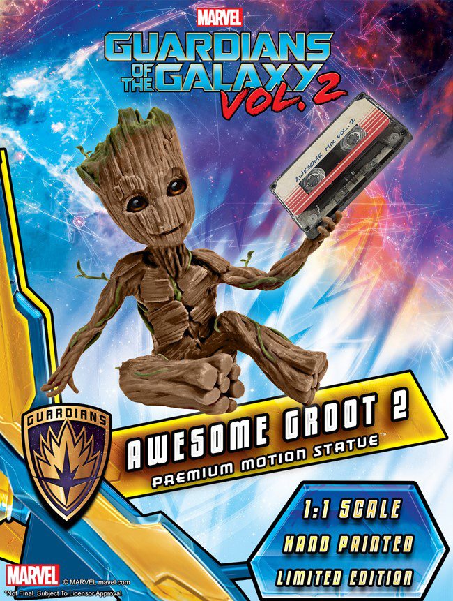 Guardians Of The Galaxy Vol. 2 Groot Premium Motion Statue