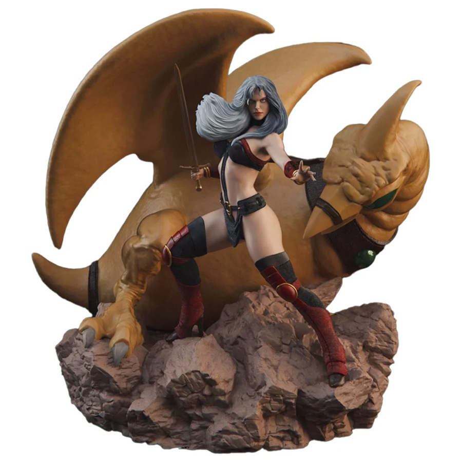 Heavy Metal Taarna with Bird 1/10 Scale Deluxe Statue