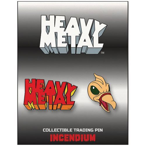 Heavy Metal The Movie 1981 Set C Lapel Pin 2-Pack (Logo and Taarna's Bird)