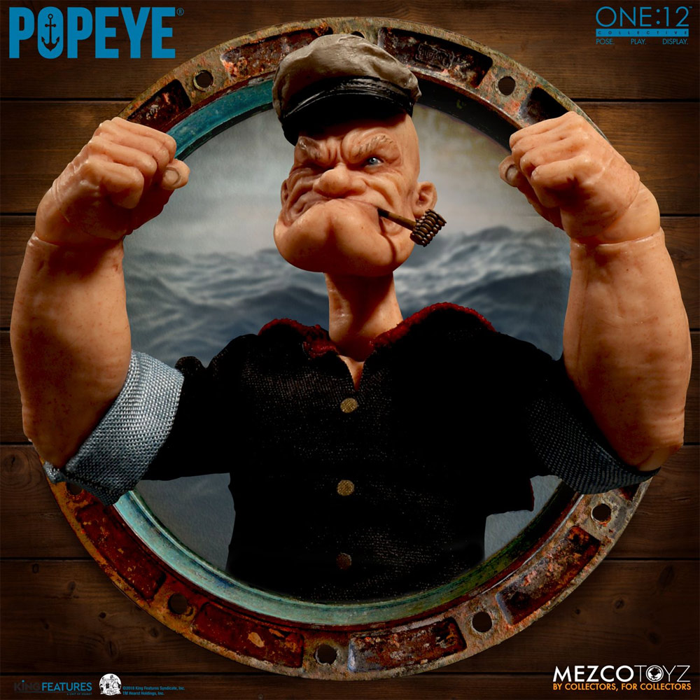 Popeye One Collective 1/12 Scale Figure Box Set by Mezco