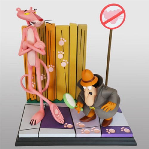 Pink Panther & The Inspector Polystone Statue Hollywood Collectibles