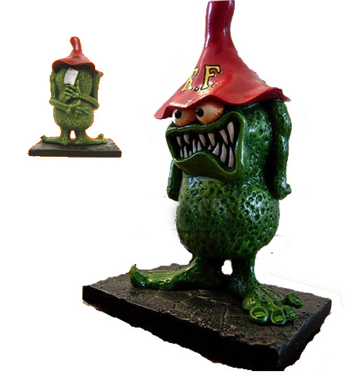 Rat Fink Finky with Meat Cleaver Resin Model Kit