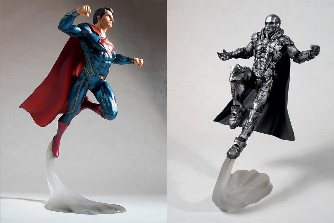 Superman Man Of Steel Superman And Zod 1/6 Scale Statue Set