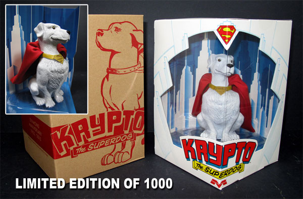 "Superman Krypto the Superdog 5"" Tall 1/6 Scale Vinyl Figure by Moebius"
