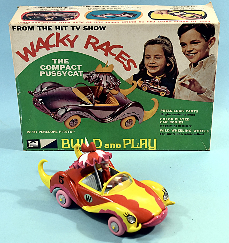 Wacky Races Penelope Pitstop's Compact Pussycat Car Model Kit MPC Re-Issue