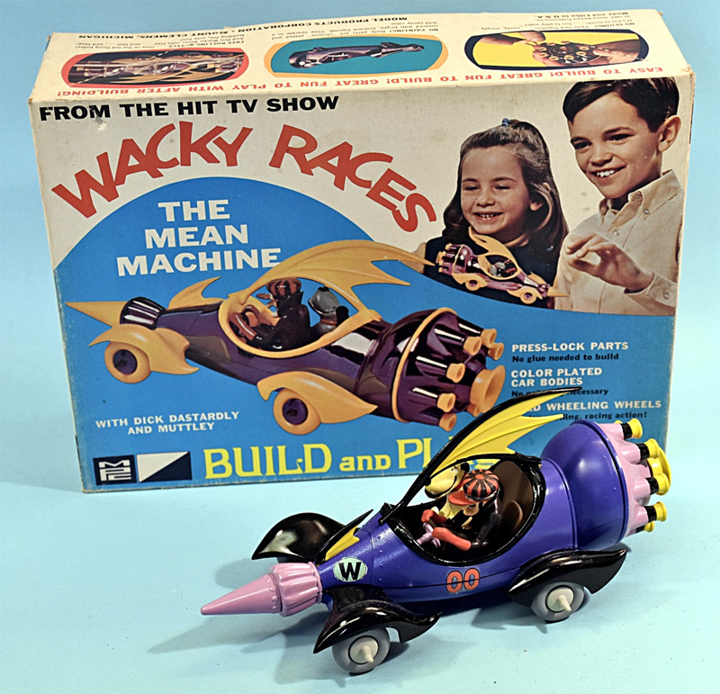 Wacky Races Dick Dastardly's Mean Machine Car Model Kit MPC Re-Issue
