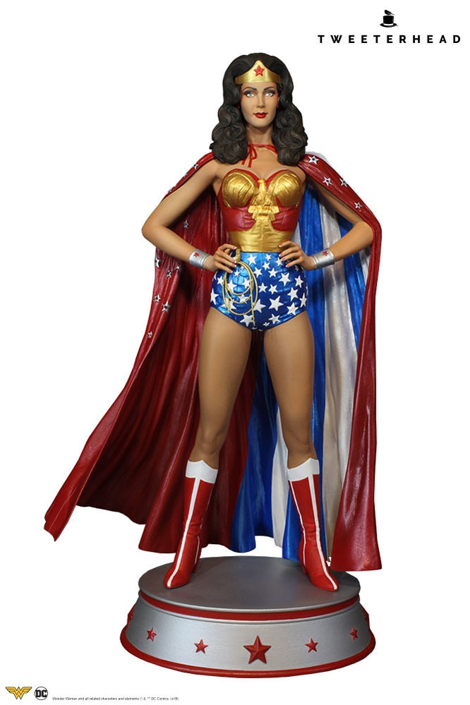 Wonder Woman Lynda Carter Season One Maquette Cape Variant Statue LIMITED EDITION