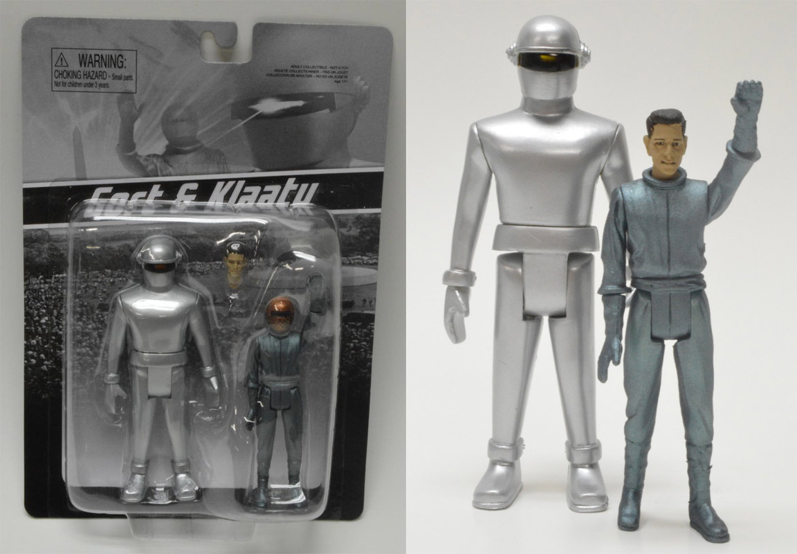 Day The Earth Stood Still Gort and Klaatu Retro Figure Set