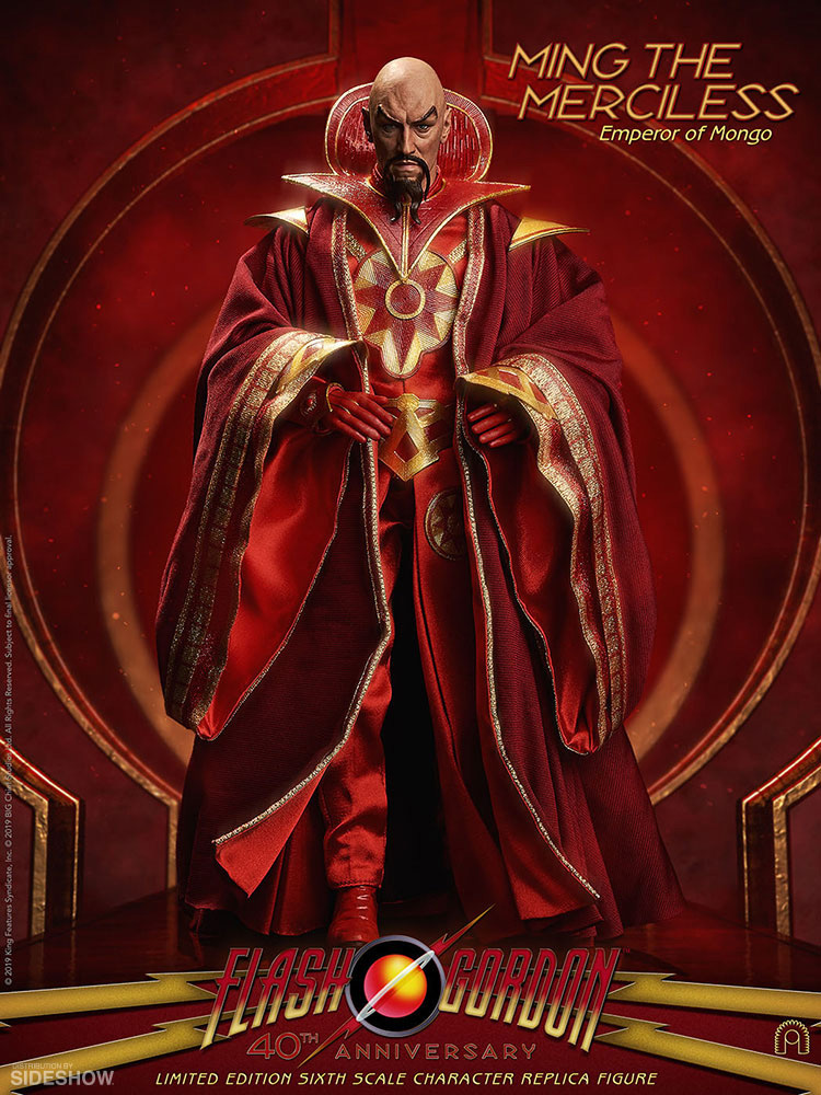 Flash Gordon 1980 Ming 1/6 Scale Figure by Big Chief Max Von Sydow - Click Image to Close
