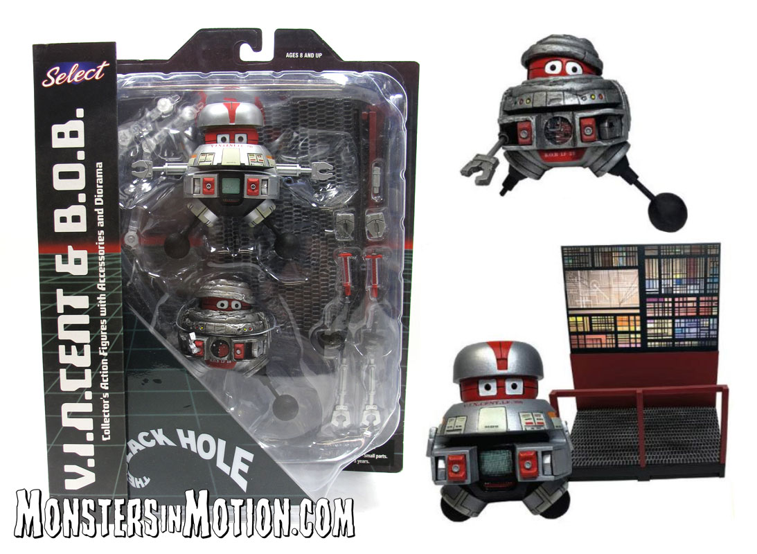 Black Hole V.I.N.CENT and B.O.B. Action Figures Disney Classic Series